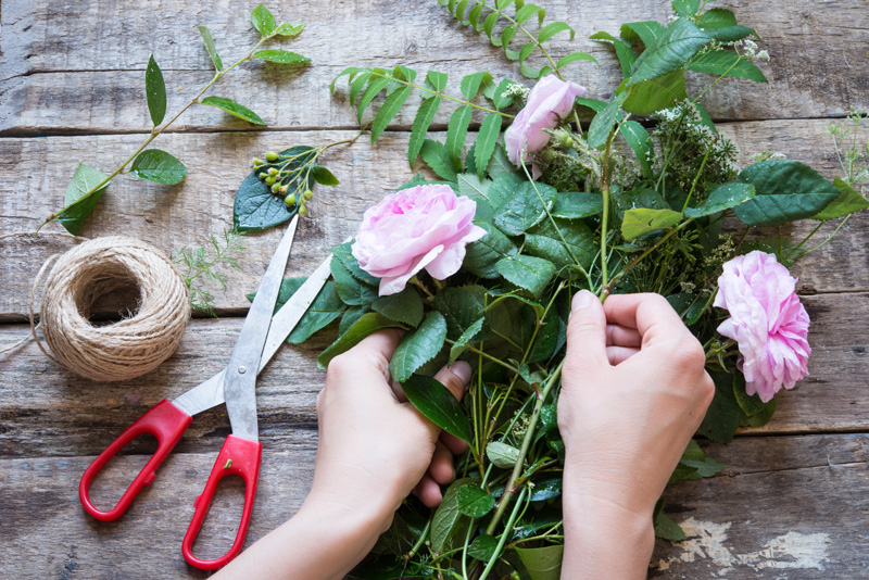 making-floral-decorations
