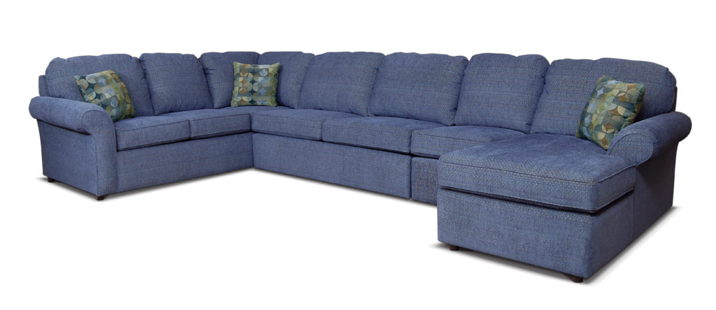 England 2400 Malibu Blue Sectional