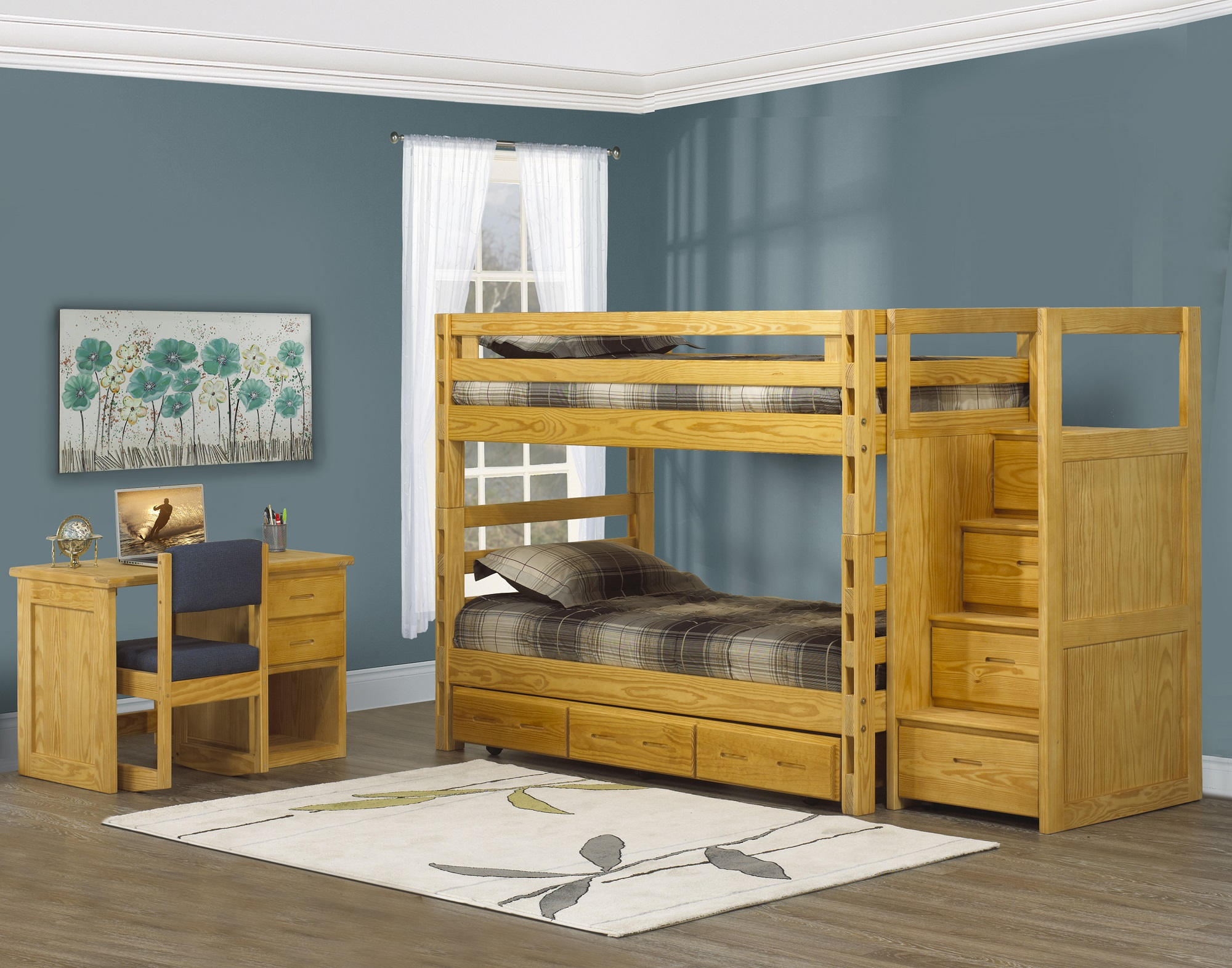 Bunkbed in Classic Fiinish by Crate Designs