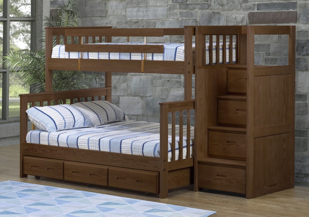 Bunkbed in Brindle Fiinish by Crate Designs
