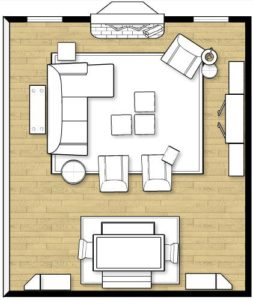 Living Room Layout with Sofa Chaise