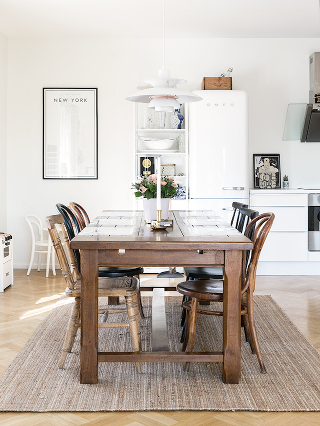 Dining Room with Mix and Match Chairs